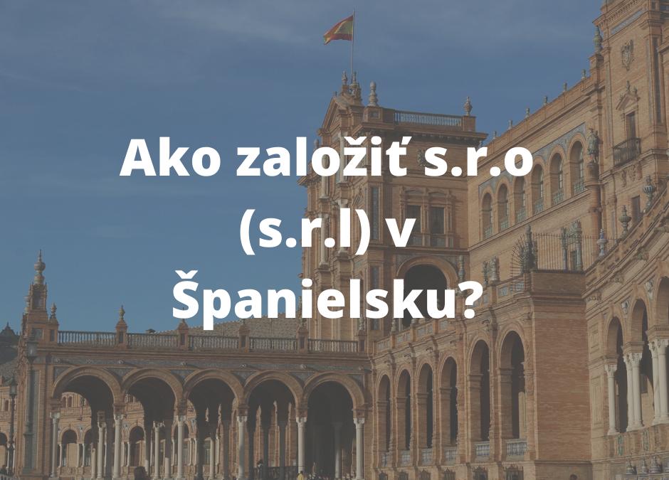 Založenie s.r.o. v Španielsku