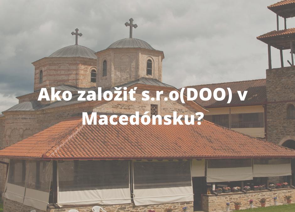 Založenie s.r.o v Macedónsku