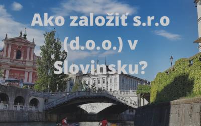 Založenie s.r.o v Slovinsku