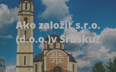 Založenie s.r.o v Srbsku