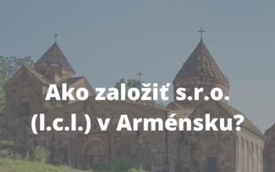Založenie s.r.o v Arménsku