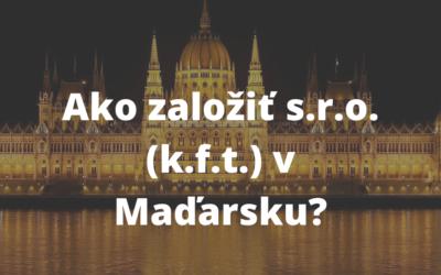 Založenie s.r.o  v Maďarsku