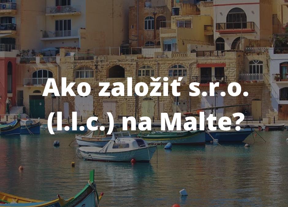 Založenie s.r.o na Malte
