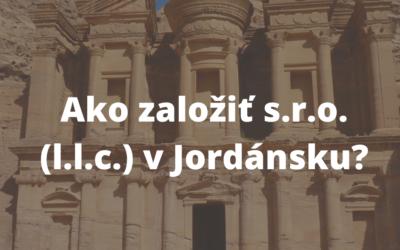 Založenie s.r.o v Jordánsku