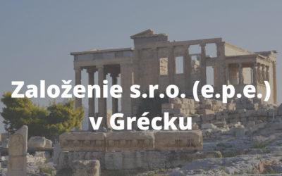 Založenie s.r.o v Grécku