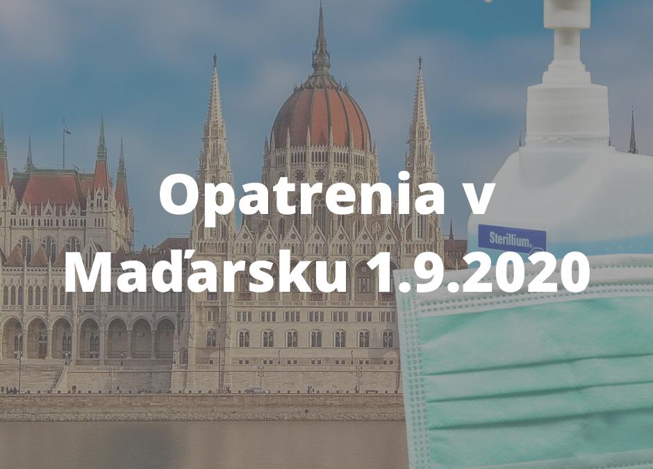 Aktuálne !!!! Covid-19 septembrové opatrenia Maďarsko